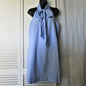 J Crew chambray tie neck dress 12